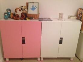Pink/white children's desk/wardrobe/draws/chair £150 ONO