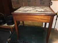 Fine Vintage Mahogany Lift Up Seat Storage Piano Stool