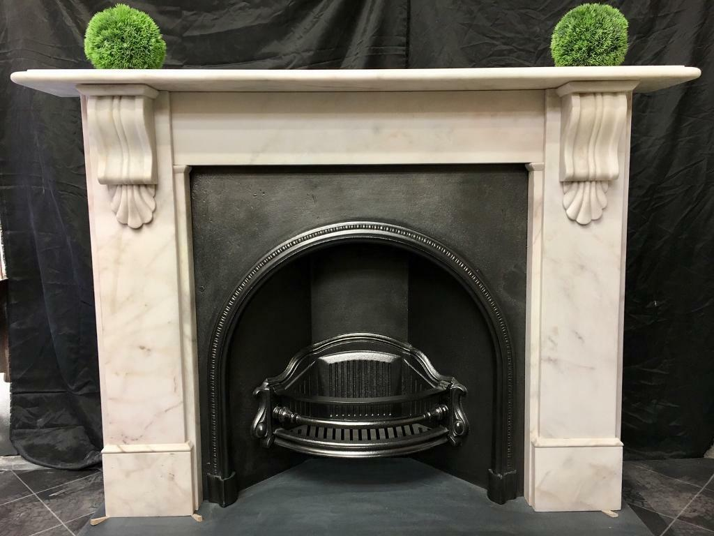 Period Marble Corbel Fireplace Surround.