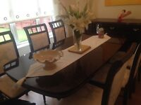 Stunning dining room table and sideboard