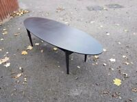 Large Oval Ikea Black Coffee Table FREE DELIVERY 334