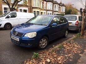 VW Polo 1.4 S 5dr (metallic blue, FSH, 8 months MOT, alloys, 3 owners, spare key)