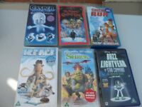 6 Classic childrens animated Videos. See photos for titles. Good condition £2