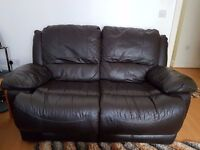 Black Leather Reclining set of 3 - 2 - 1 sofas; used but in excellent condition.