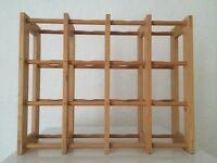 Wooden 16 bottle wine rack