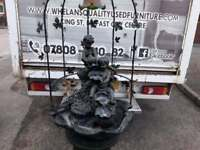 Beautiful, heavy marble stone & metal water fall fountain £165-was £460 new!