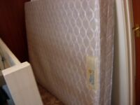 Double bed Orthonic firm sprung mattress for sale.