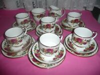 China Tea Set 20 pieces Country Rose Pattern