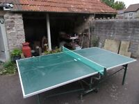 fold away table tennis table
