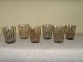Canova Set of 6 Assorted Murano Crystal Glasses by Nason & Moretti Tumblers NEW