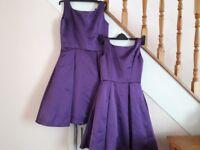 Purple skater Prom/Bridesmaid dresses