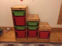 IKEA TROFAST storage units & wardrobe