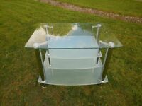 Large Heavy Tempered Glass TV Stand
