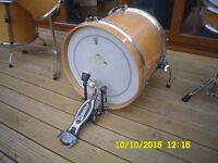 drums, 4 piece arbiter drum set, with symbols