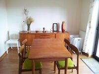 Mid Century Retro Dining table and 4 chairs