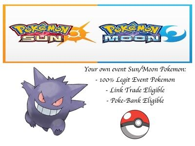 Pokemon Ultra Sun and Moon Halloween Gengar Event Pokemon - Sun And Moon Halloween