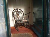 Ercol 316 Grandfather Rocking Chair Windor Fleur de Lys 1965 original upholstery Excellent condition