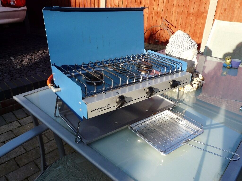 campingaz double burner with grill   in New Rossington, South ...