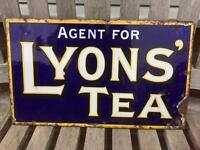 Vintage enamel Lyons Tea sign