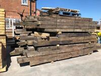 🌲 Wooden/ Timber Railway Sleepers ~ Used