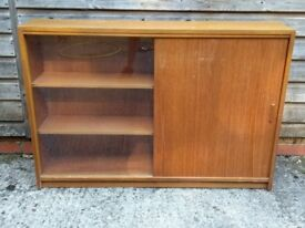 1970's Vintage display cabinet with glass door / drinks cabinet / book case