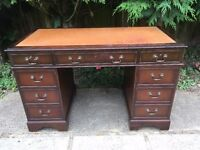 ANTIQUE STYLE DESK LEATHER TOP
