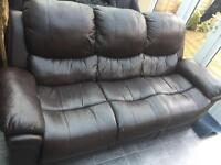 FREE!! 3-seater sofa and two recliner chairs