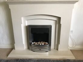 Fire place suite in stone effect