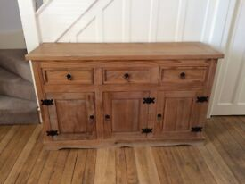 Solid Pine Sideboard - Antique Effect/Country Kitchen Style **Matching Dining Set Also Available**