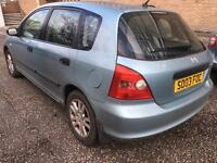2003 HONDA CIVIC V TEC 1.6 5 door FSH taxed and mot'd