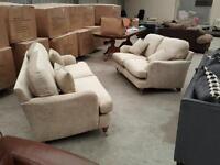 Brand new golden beige 3 + 2 Gatsby sofa suite