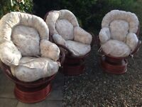 3 x conservatory rocking chairs