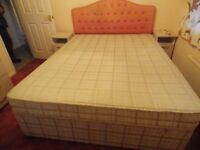 5ft double bed base & mattress