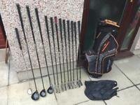 Golf clubs full set of Graphite irons, Woods, Putter & Golf Bag.