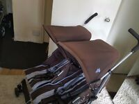 Double stroller MACLAREN Twin Triumph. Fully working. Very easy to roll. Delivery is available.