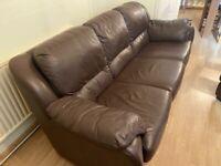 Handmade Italian leather sofa top quality not dfs