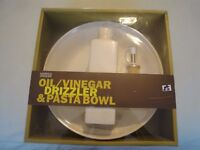 M. & S. Oil / Vinegar Drizzler & Pasta Bowl Set
