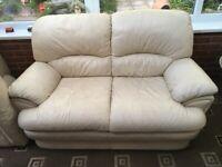 2 x leather sofas