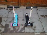 2 x Zinc scooters