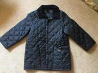Child's black Barbour coat