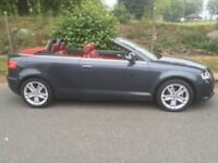 AUDI A3 Cabriolet SPORT 2.0 TDi Convertible - Red Leather Interior / MOT 2019 / Electric Roof