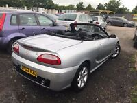 MG TF 1.8 135 2dr 2002 (02 reg) Convertible 96,782 miles Manual Petrol, MOT 19/03/2018