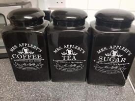 Sugar coffee tea canisters