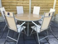 Large Garden Table & Six Chairs, New / Unused