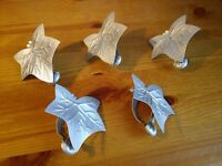 Metal Leaf Napkin Rings