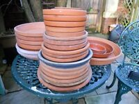 Mixed Selection of 32 Plant Pot Saucers.