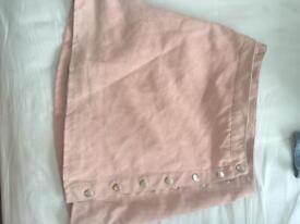 Pink, unworn button up mini skirt