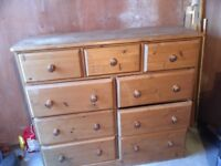 Large wooden set of draws