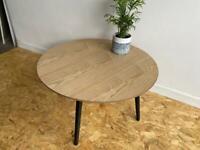 Oak finished coffee table