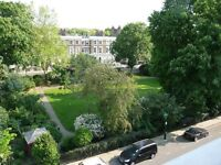 Kensington / Holland Park W11 One bedroom Sunny Flat For Sale. Views & Access to Gardens
